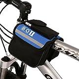 BOI自転車ビームパッケージ自転車フレームラックチューブバッグ、サイクリングバッグ青