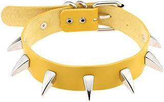 Women Punk Leather Necklaces Choker Rivet Rock Adjustable Girl Collar Necklaces