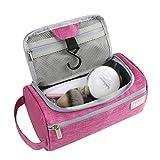 Eono by Amazon - Hanging Toiletry Bag for Men and Women Travel Wash Bag Waterproof Cosmetic Bag Beauty Case Makeup Bag Travel Pouch Bag Toiletry Organiser Gym Shower Bag Men`s Shaving Bag, Fushcia
