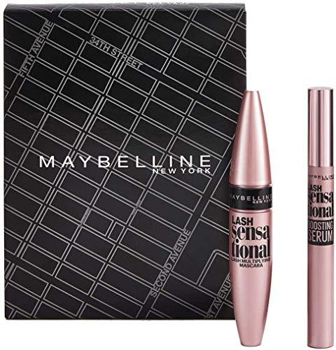Maybelline New York - Set de Maquillaje, Incluye Máscara de Pestañas Lash Sensational y Primer de Pestañas Lash Sensational Boosting Serum