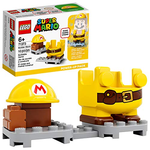 LEGO Super Mario Builder Mario Power-Up Pack 71373 Building Kit, Fun Gift for Kids to Power Up The Mario Figure in The Adventures with Mario Starter Course (71360) Playset, New 2020 (10 Pieces)