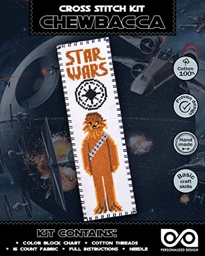 Embroidery Kit 'Star Wars: Chewbacca' - DIY Cross-Stitching Bookmark