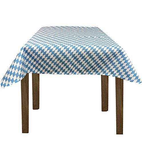 JEMIDI Stofftischdecke für Bistrotische Tischdecke kariert Tischdecken Decke Tisch Tischdecken (Bayrische Raute, 135cm x 225cm)