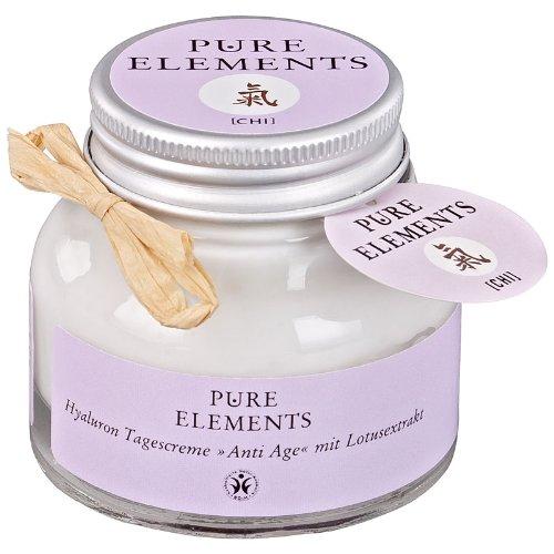 Pure Elements - Chi - Crème de jour anti-âge à l'acide hyaluronique et à l'extrait de lotus - 50 ml