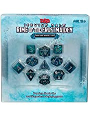 D&D RPG ICE WIND DALE RIME OF THE FROST MAIDEN DICE SET