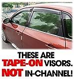 C&C CarWorx Set of 4 Aftermarket WV-08I-TF Tape-On Outside-Mount Window Visor Rain Guard Deflectors Compatible with 2008-11 Subaru Impreza Sedan & Hatchback and 2008-14 Impreza WRX & STI SEDANS ONLY!