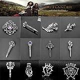 SHAOWU Outlander Brosche Pins Schottland Distel Schwert Waffe Broschen Jewely Cute Vintage Metall Anstecknadel Geschenke für Frauen Party Zubehör A.