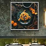 N / A Pintura sin Marco Delicioso Postre Pastel Imagen póster y Foto Arte de la Pared Restaurante de Lona decoración del hogar ZGQ7582 40X40cm