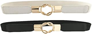 HaoPiDai Brand Waist Belts For Women Dress With Cinch Elastic Waistband Skinny Comfortable Retro Metal Buckle
