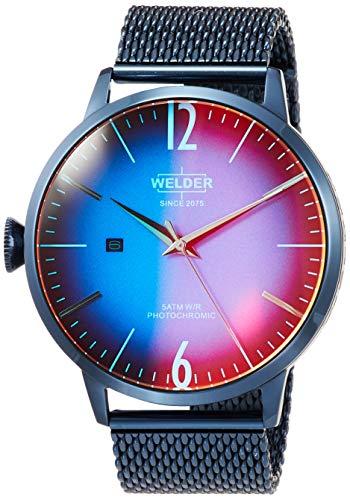 WRC407 Welder Moody - Reloj para hombre en acero con acabado IP en azul