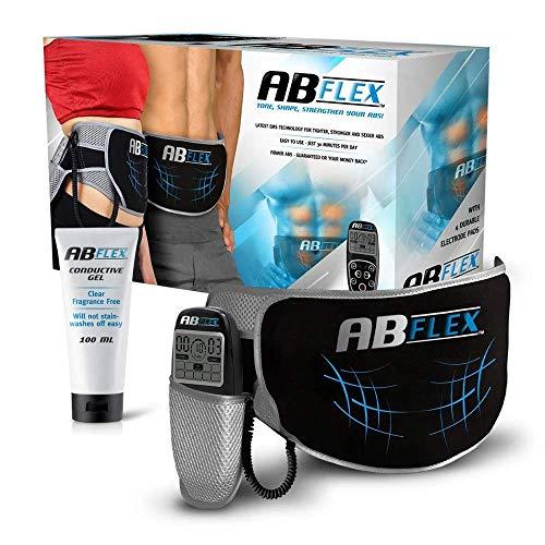 ABFLEX Estimulador Muscular Abdominales Cinturón de tonificación AB para Unos músculos Abdominales tonificados y Delgados (Negro)
