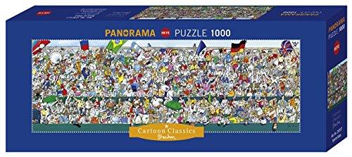 Heye- Puzzle Panoramico Blachon Gli Appassionati di Sport, 1000 Pezzi, VD-29757