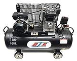 BJS - Compresseur d'air - 100 L - 3 cv - Noir - Certification Européenne - Garantie 1 an