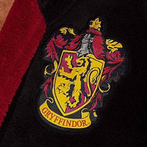 Groovy-Gryffindor-Harry-Potter-Hooded-Bathrobe-Polyester-Black-Mens-One-Size
