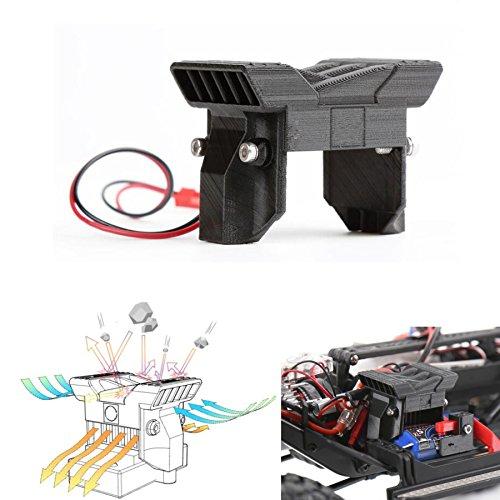 XUNJIAJIE ESC - Ventilador de refrigeración para coche TRX4 T4 1/10 RC Crawler Buggy