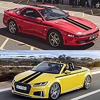 カーストライプステッカーフードカバールーフサイドデカール、アウディ用、BMW用、フォルクスワーゲンゴルフ用、フォード用、ラダ用、レクサス用、トヨタ用