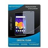 2 x SWIDO® Protector de pantalla Alcatel One Touch Idol 4 Protectores de pantalla de película 'CrystalClear' invisible