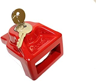 JENDYK GHAL-KD Red Aluminum Glad Hand Lock (Keyed Differently), 1 Pack