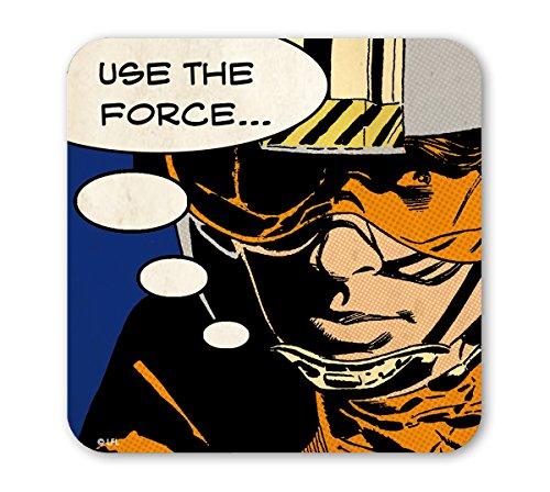 Logoshirt - Guerre Stellari Sottobicchiere Sughero - Fumetti - Star Wars Coaster - Use The Force - colorato - Design Originale Concesso su Licenza