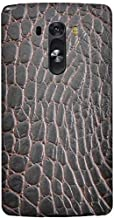 Stylizedd LG G3 Premium Slim Snap case cover Matte Finish - Cowhide Leather - Brown-Black