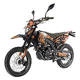 X-PRO 250cc Dirt Bike Pit Bike Gas Dirt Bikes Adult Dirt Pitbike 250cc Deluxe DOT Street Legal Dirt Pit Bike,Orange