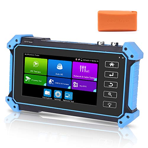 5 Inch Touch Screen CCTV Tester for IP and Analog Camera, All in One Camera Tester 4K H.265 8MP CVI TVI AHD SDI CVBS IP Camera Tester Monitor with POE/HDMI & VGA Input/UTP & RJ45 Cable Tester