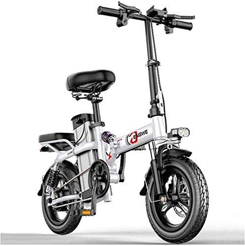 Bicicleta Eléctrica Bicicleta eléctrica eléctrica Bicicletas eléctricas 14 pulgadas Portátil plegable Motor sin escobillas de alta velocidad Tres modos de conducción con batería de litio de litio de 4
