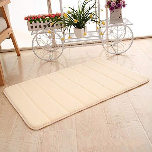 Tapete para puerta, alfombra, vellón de coral, espuma viscoelástica, rebote lento, tapete para piso, cocina, baño, absorbente, tapete para pies, engrosado, duradero y fácil de limpiar