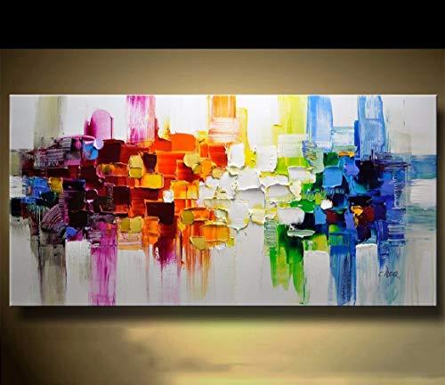TJ Abstrakte Moderne Leinwand Malerei Zeitgenössische Wand Kunst Acryl Strukturierte Malerei C4012