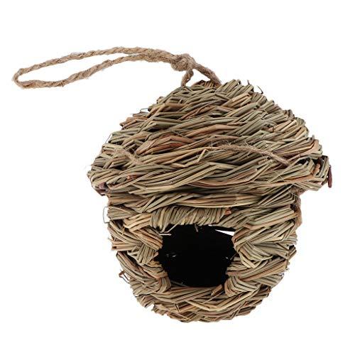 KESOTO Vogelnest Nest Kanariennest Nistkasten Nestplatz Nistmaterial aus Natürlicher Gras - C: Gras House