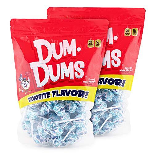 Dum Dums Blu Raspberry 2-1 lb bags