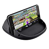 Car Mount Holder,2019 New Silicone Pad Non-Slip Dash Mat Cell Phone Car Dashboard Holder Cradle Dock for iPhone X/8/8 plus/7/7plus/6s plus,Samsung Galaxy S8 S7 S6 S5, LG, Huawei,Google Nexus (Black)