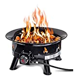 Outland Firebowl 883 Mega Outdoor Propane Gas Fire Pit with UV and Weather Resistant Durable Cover, 24-Inch Diameter 58,000 BTU 141[並行輸入]