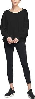DKNY Sport Relaxed Fit Open-Back Logo Print Sweatshirt