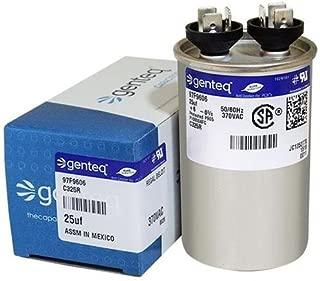 (2) Pack - Genteq 97F9606-25 uf MFD 370 Volt VAC Genteq Replacement Round Run Capacitors