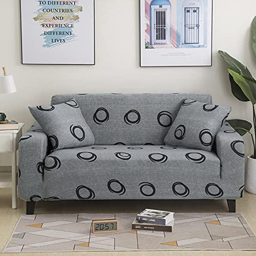 MKQB Funda de sofá telescópica elástica, Funda de sofá Envuelta herméticamente Antideslizante, Funda de sofá de Esquina para decoración del hogar Sala de Estar NO.8 XL (235-300cm)