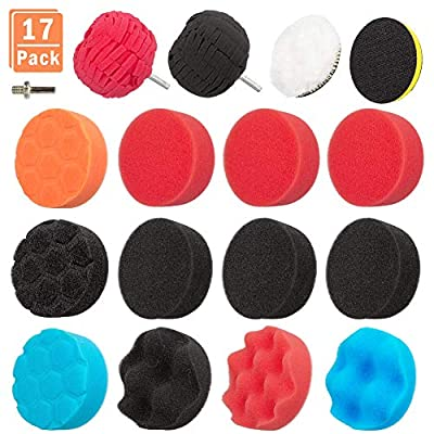 Amazon - Save 30%: 17PCS 3 inch Polishing Pads Sponge Buffing Pads Waxing Pads with M10 Dr…