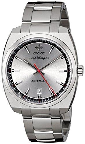Sternzeichen Heritage Herren zo9900Sea Dragon Analog Display Swiss Automatische Silber Armbanduhr