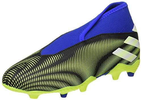 adidas Nemeziz .3 LL FG J, Zapatillas de fútbol, NEGBÁS/FTWBLA/Amasol, 33.5 EU