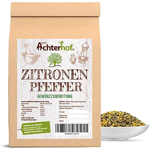 Zitronenpfeffer grob 250 g für die Pfeffermühle geeignet Gewürzzubereitung Pfeffer-Körner geschrotett natürlich vom-Achterhof