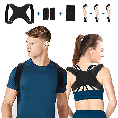 WOTEK Rücken Haltungskorrektur Geradehalter, Herren Damen Rückenstütze Schultergurt, Geradehalter Haltungstrainer für Nacken Rücken Schulterschmerzen