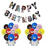 Sonic The Hedgehog Globos Decoración de fiesta, Fiesta temática Decoracion Globos de latex Cumpleaños de Dibujos Animados Bunting Banner Balloon Birthday Decorations Garland Set para Niños