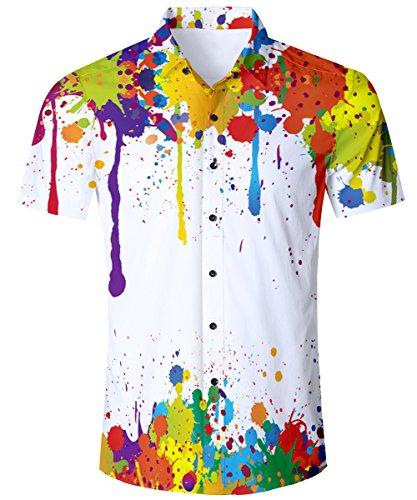 TUONROAD Camisa Hawaiana para...
