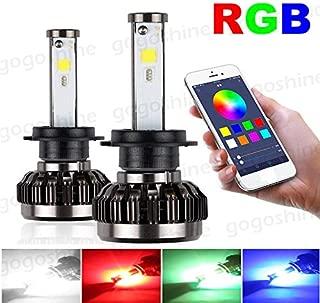 Torofibi H8/H9/H11 2 in 1 Auto Led Headlight Kits - HZ-RGB Smartphone App-enabled Bluetooth RGB + LED Headlight Conversion