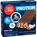 Fiber One Protein Bar, Coconut Almond, Chewy Bars, 6g Protein, Snacks, 5 ct.