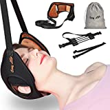 Neck Head Hammock,Cosy Life Breathable Velvet Cervical Neck Traction Device,Neck Stretcher with Durable Reinforced Elastic Safety Cords & Adjustable Straps for Neck Back Pain Relief