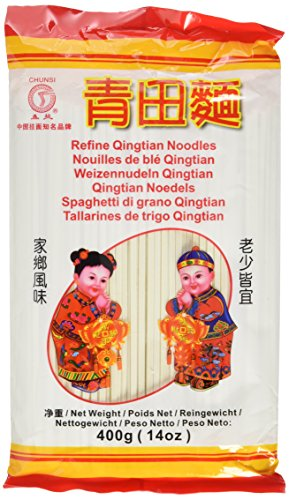 Chunsi Weizenudeln, (Qingtian), 6er Pack (6 x 400 g Packung)