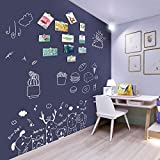 Magnetic Colored Decorative Chalkboard Sticker, Self-Adhesive Wallpaper Roll Blackboard, Peel and Stick Contact Paper for Home Kitchen School, Dark Gray, 36 x 24 Inches