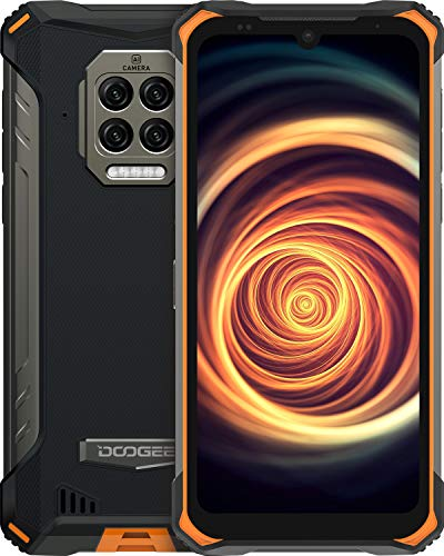 DOOGEE S86 [2021] 8500mAh Batería Movil, 6GB RAM+128GB ROM IP68 IP69K Smartphone Resistente Agua y Golpes, Cámara Cuádruple 16MP Moviles Todoterreno 4G, Helio P60 6.1inch, NFC, Naranja