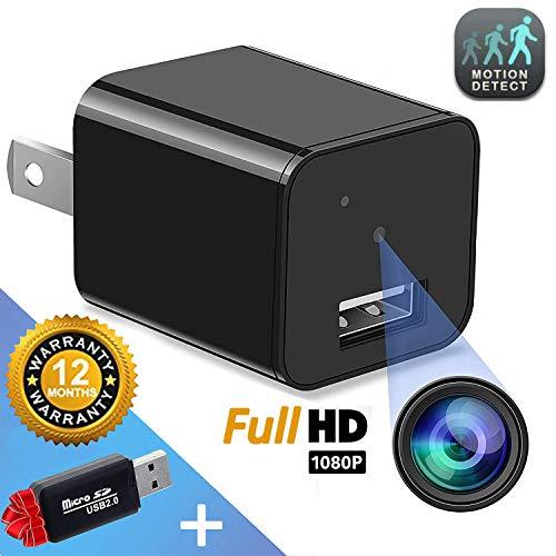 Hidden Camera - Mini Spy Camera - Motion Detection - USB Charger Camera - Hidden Spy Cam - Hidden Nanny Cam - Home Surveillance Security Camera Full HD 1080P - No Wi-Fi Needed